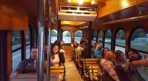 inside the trolley