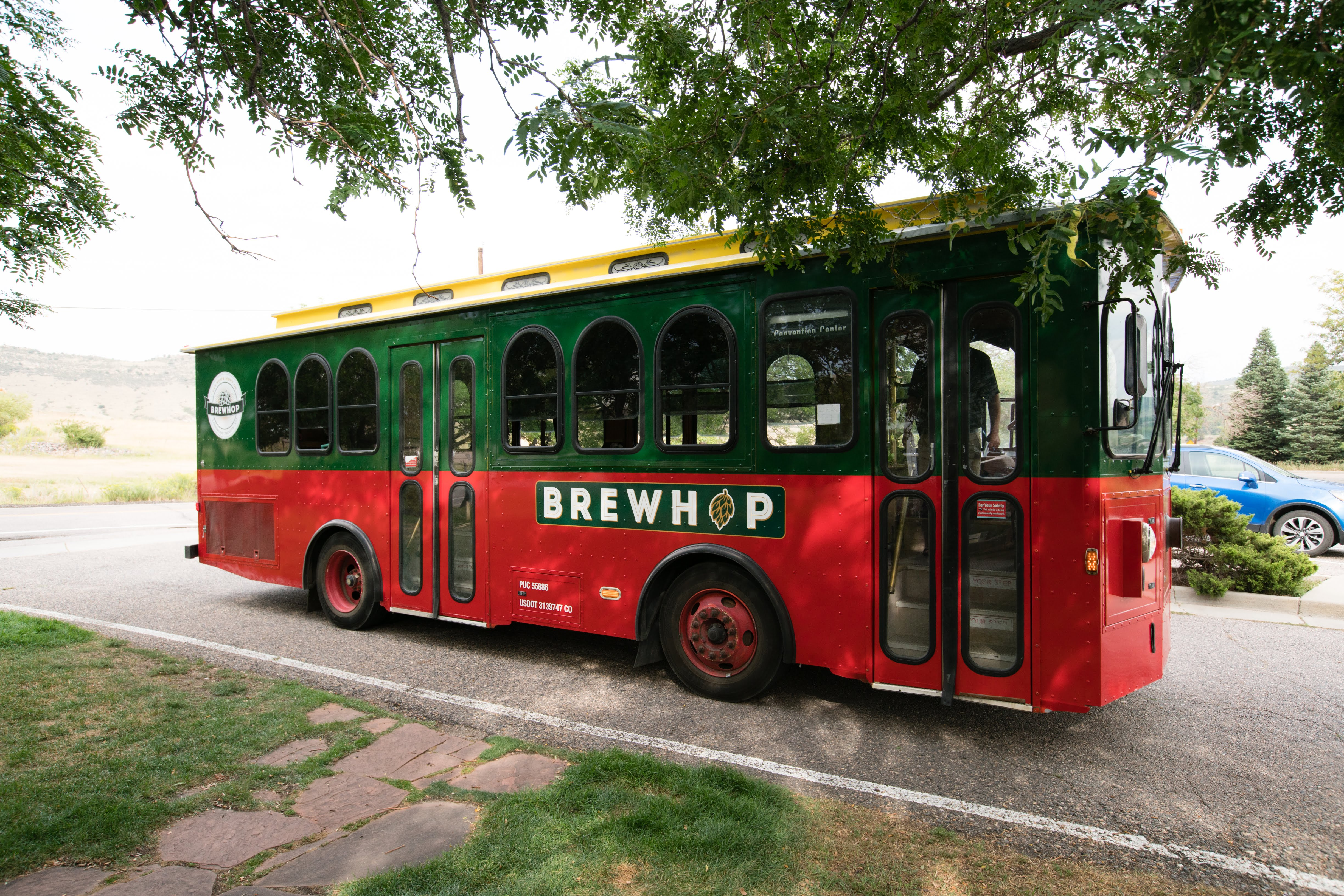 colorado wedding trolley brewhop trolley