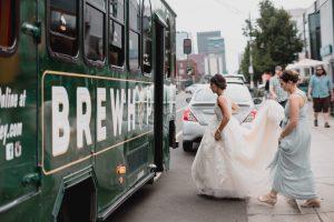 wedding transportation, wedding trolley, colorado weddings