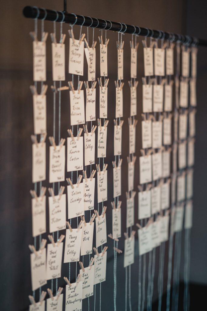 Unique place card holders for vintage wedding