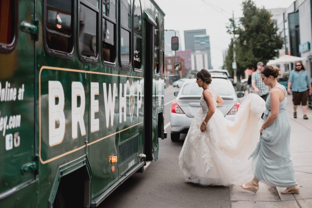 BrewHop Trolley has transportation for weddings through Colorado including in downtown Denver CO