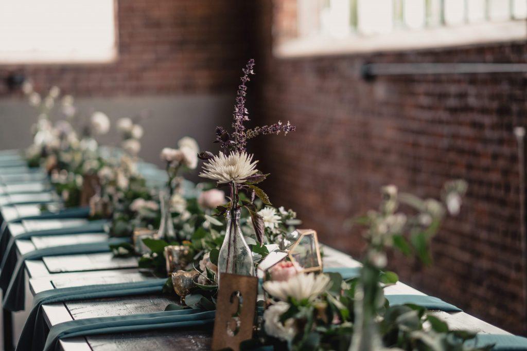 Moss Event Venue in Denver and BrewHop Trolley wedding transportation